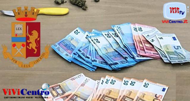 Castellammare spacciatore arrestato, sequestrati soldi, arma e droga
