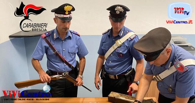 MARITO E MOGLIE DI ESINE (BS) ARRESTATI DAI CARABINIERI PER DETENZIONE DI STUPEFACENTI E ARMI