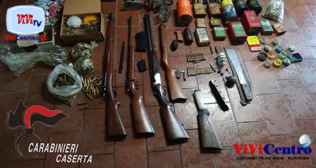 Operazioni dei CC di Caserta, sequestro armi e munizioni
