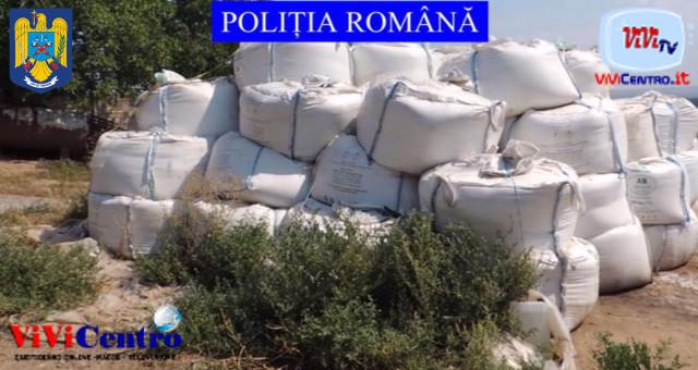 Vlădești a rischio come Beirut Trovate 35 ton di nitrato d'ammonio (Foto Poliția Română)