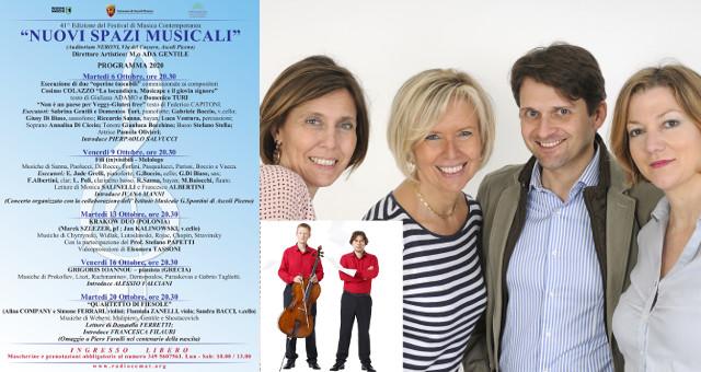 """41ma edizione del Festival """"Nuovi Spazi Musicali"""""""
