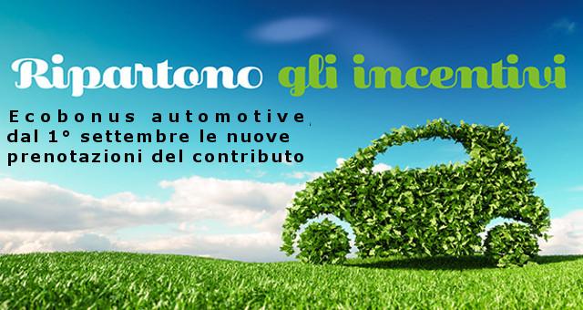 Ecobonus Automotive, ripartono incentivi