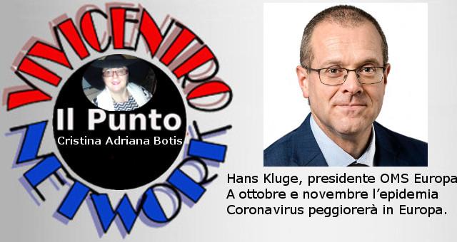 Hans Kluge, presidente OMS Europa, a ottobre e novembre l'epidemia