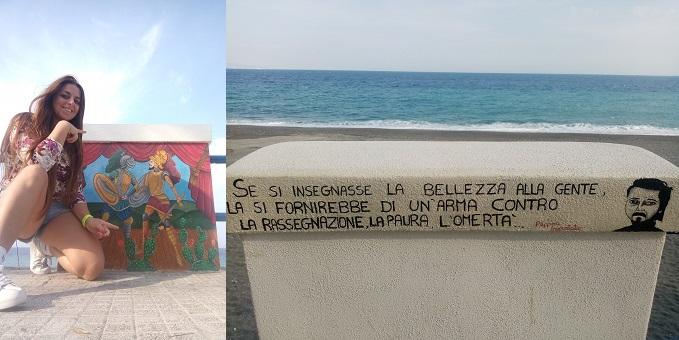 l'idea lanciata da una ragazza siciliana su Facebook dopo avere visto i muretti dipinti