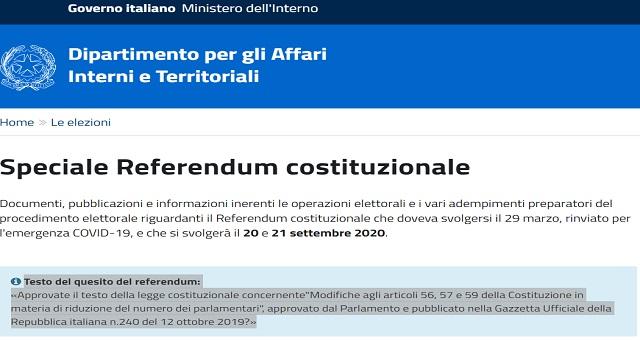 da cittadino voterò al referendum del 20 e 21 settembre