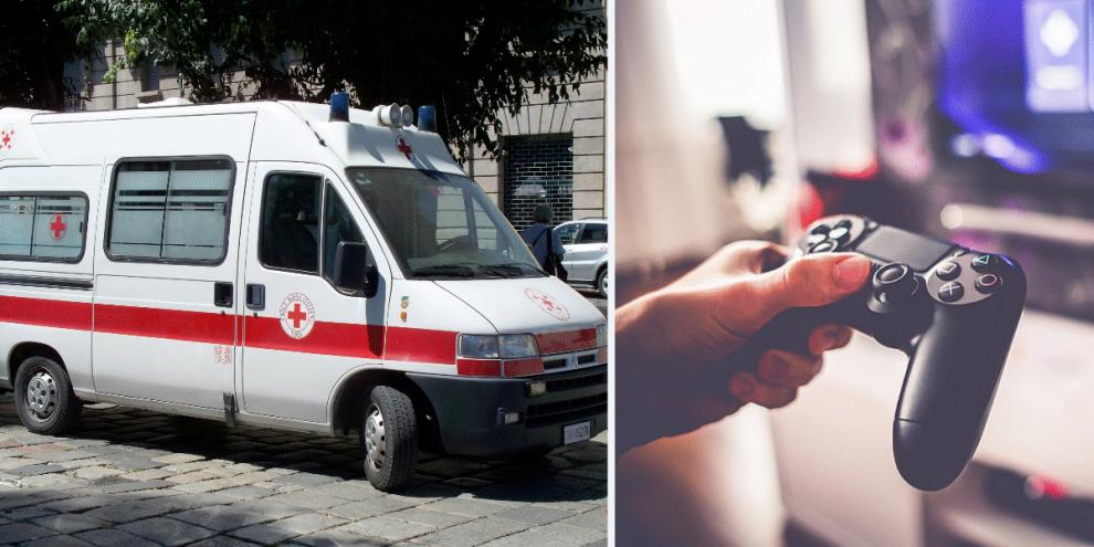 ambulanza playstation napoli