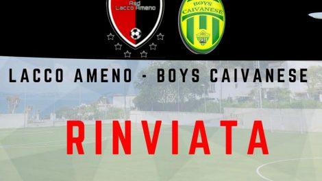 Promozione- Lacco Ameno-Boys Caivainese rinviata per Covid-19