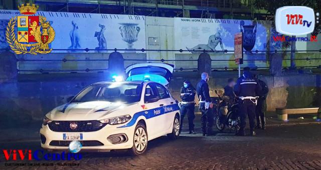 22enne di Frattaminore danneggia un'auto della Polizia