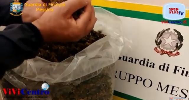 La GdF di Messina ha sequestrato gli oltre 5 kg di marijuana