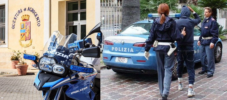 La Polizia di Stato di Agrigento durante i controlli ha denunciato e sanzionato