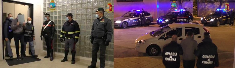 A Bari, Guardia di Finanza, Carabinieri e Polizia stradale