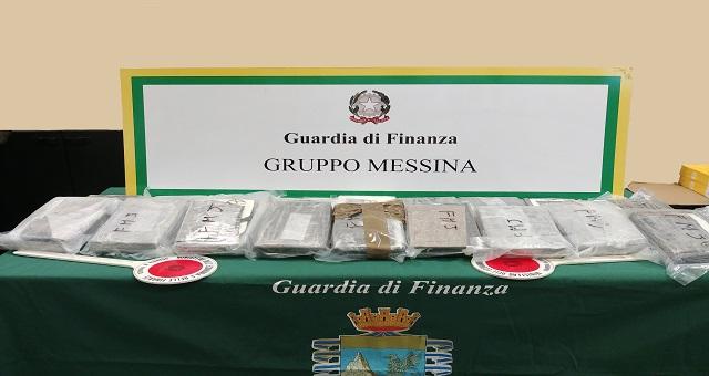 Il Comando Provinciale di Messina della GdF ha effettuato il sequestro della cocaina
