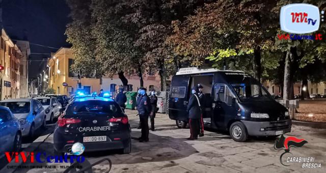 Continuano i controlli dei Carabinieri nelle aree della Movida bresciana