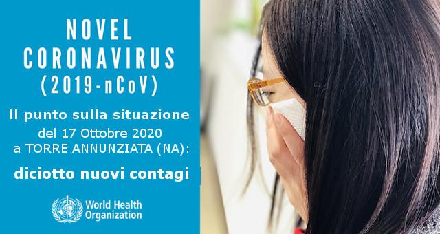 Diciotto nuovi casi di contagio da Coronavirus a Torre Annunziata