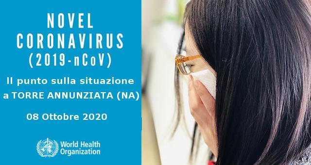 Evolversi del Coronavirus a Torre Annunziata, 8 ottobre 2020
