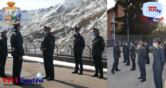 Il Generale Stefano Screpanti in visita ai reparti della GdF di Sondrio