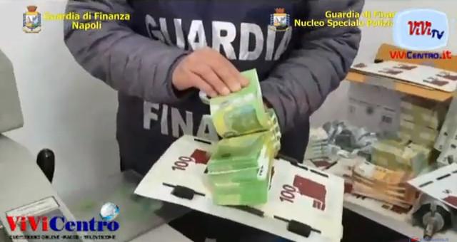 NAPOLI, GUARDIA DI FINANZA SEQUESTRA UNA STAMPERIA CLANDESTINA DI BANCONOTE FALSE