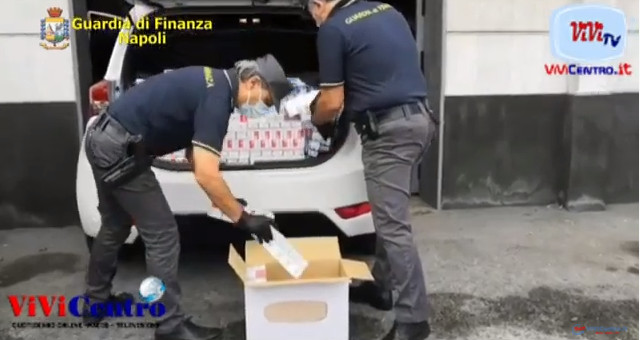 Nola sequestrati 246 kg di sigarette, arrestati due fratelli contrabbandieri pluripregiudicati