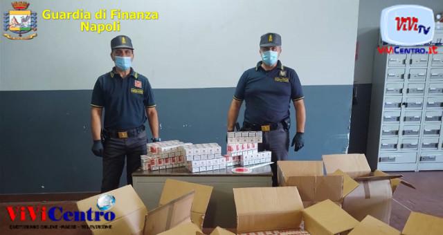 Sequestrati 190 kg di sigarette e arrestato un contrabbandiere dalla GdF Napoli
