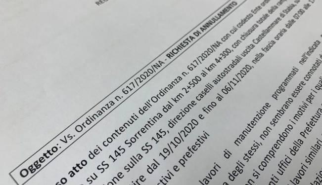 castellammare ordinanza cimmino anas