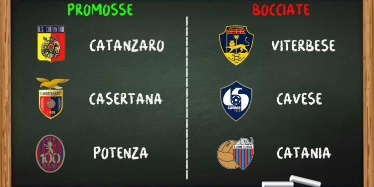 Promosse e Bocciate nona giornata Serie C girone C