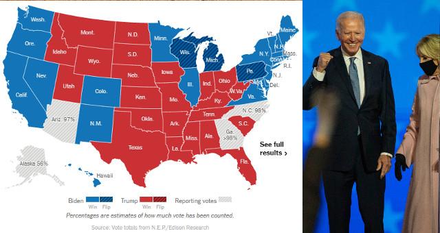 Biden ha battuto Trump