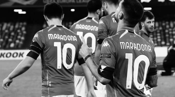 Il tributo del Napoli per Maradona - credit: Twitter SSC Napoli