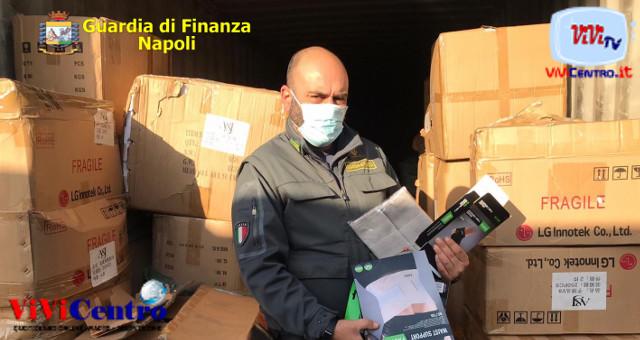 Guardia di Finanza Napoli, sequestro articoli non a norma