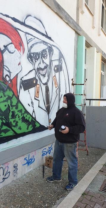 murales Gigi Proietti- Lac68 (ph Maria D'Auria)