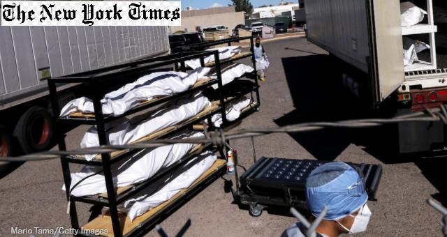 Morti in America (foto Mario Tama per The New York Times)