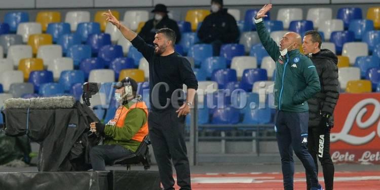 Napoli 1 Milan 3 calcio serie A tim 2020-2021 GATTUSO