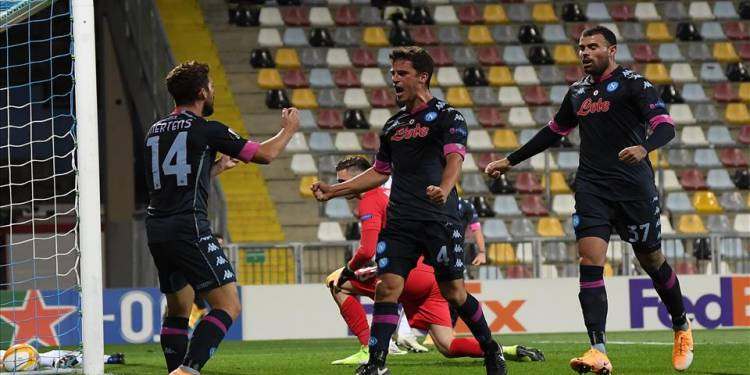 Petagna e Mertens - Credit foto: Sito ufficiale SSC Napoli