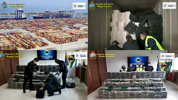 coordinate della Procura li hanno sequestrati in un container