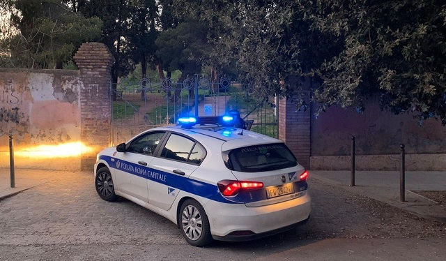 Villa Ada- Intervento della Polizia Locale
