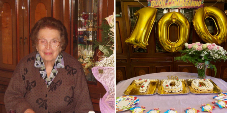 Compleanno castellammare centenario 100 anni signora anna