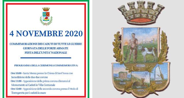 Commemorazioni istituzionali 4 Novembre 2020 a Bacoli
