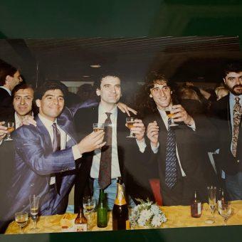 Medmar Maradona festeggiamenti scudetto
