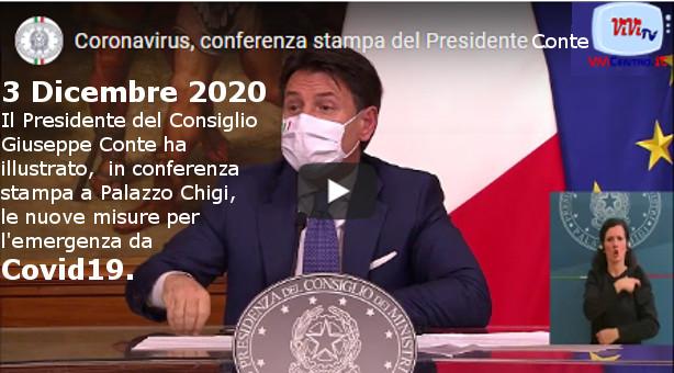 Conferenza stampa del Presidente Conte - 3 Dicembre 2020