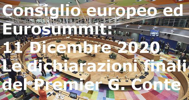 Conferenza stampa finale di Conte alla chiusura del Consiglio europeo ed Euro-summit