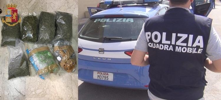 La Polizia di Stato di Messina durante controlli in un cantiere