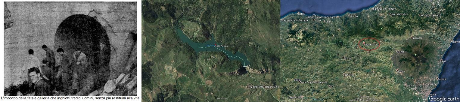 La sera del 5 dicembre 1950 i lavori della diga vennero funestati da una sciagura