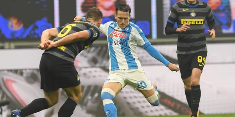 Piotr Zielisnki contro l'Inter - credit foto: Twitter SSC Napoli