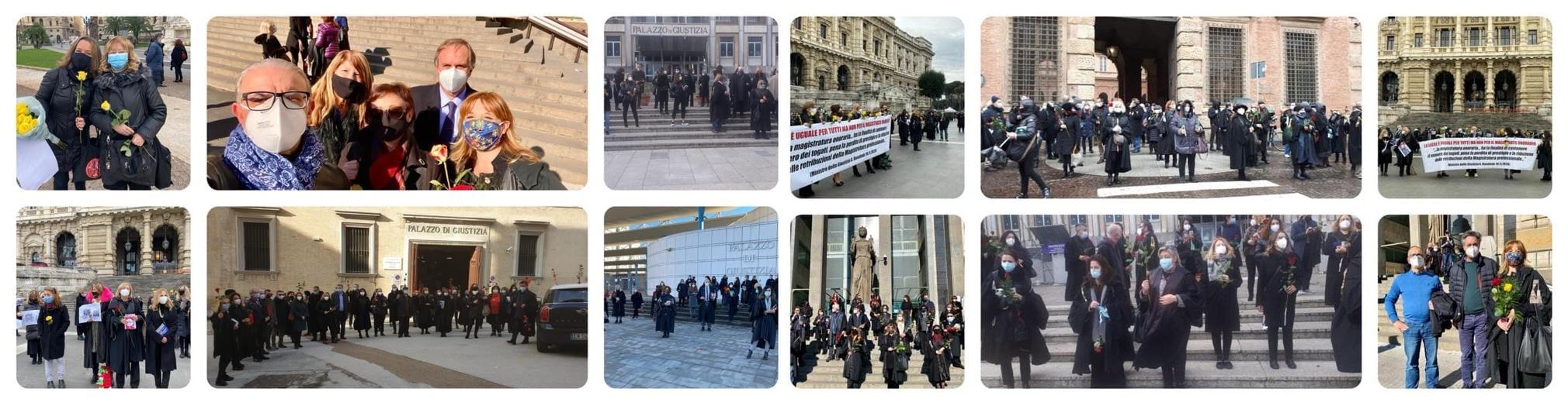 Flashmob davanti alla Corte di Cassazione
