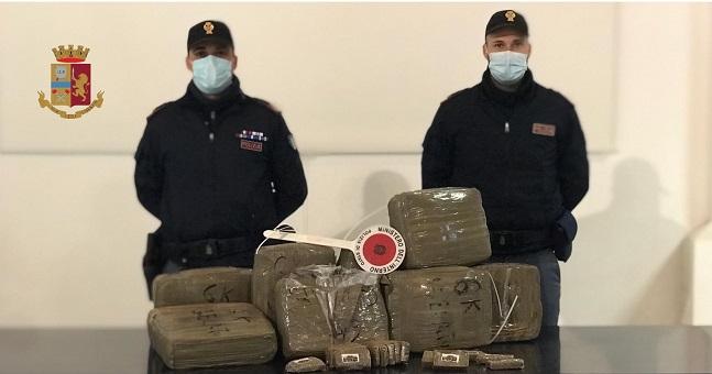 La Polizia di Stato di Palermo sequestra trecentomila euro di hashish