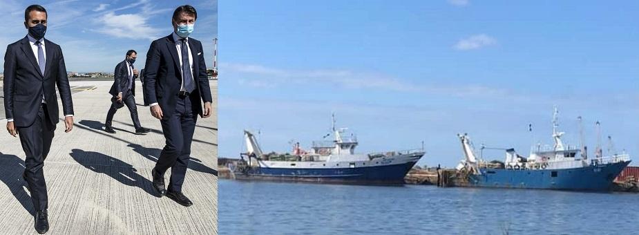 sono andati a Bengasi per la liberazione dei pescatori di Mazara del Vallo
