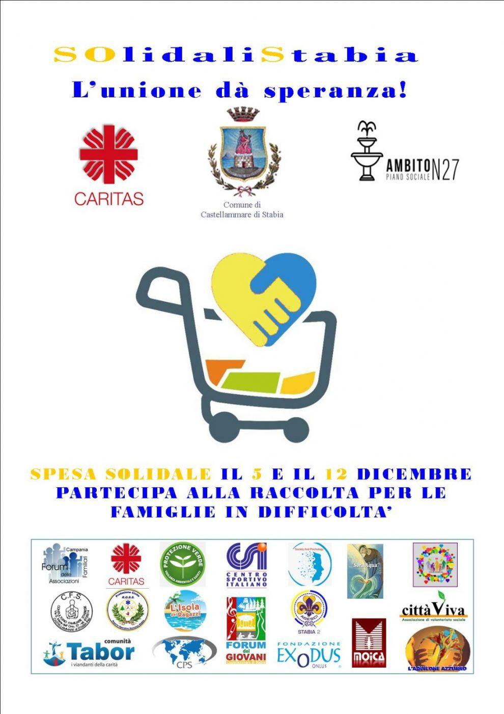 """Castellammare di Stabia : via all' iniziativa """"Solidali Stabia"""""""