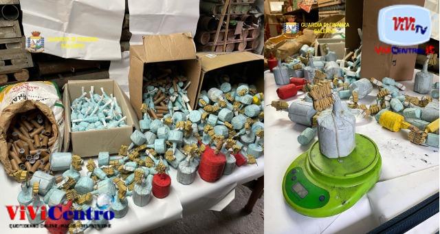 Botti illegali: Guardia di Finanza ad Angri, trovati oltre 2mila ordigni