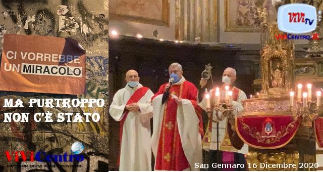 San Gennaro non fa promesse, il sangue non si scioglie