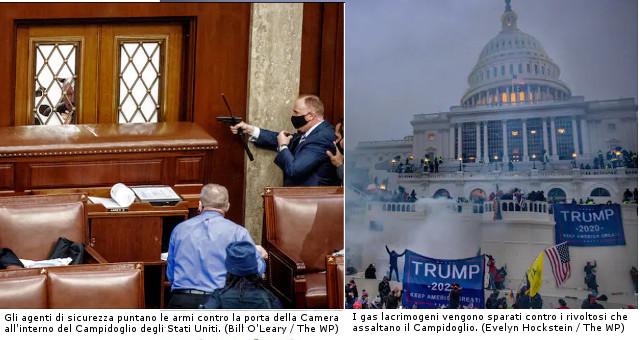 Assalto al Campidoglio, 4 morti (Foto The Washington Post)