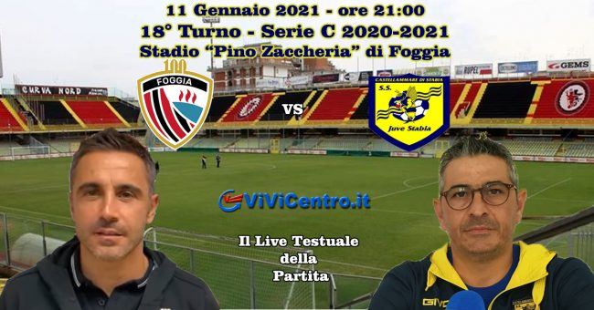 Foggia-Juve Stabia LIVE